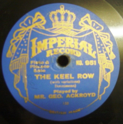 George Ackroyd Flute - The Keel Row - Imperial 951