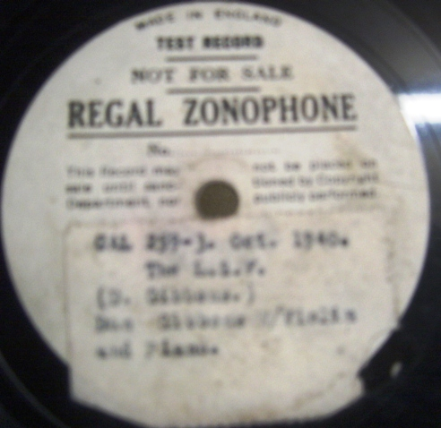 Dan Gibbons - The L.S.F. - Regal Zonophone Test Pressing