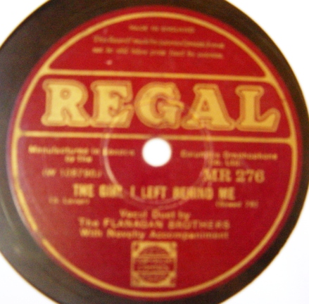 Flanagan Brothers - The Girl I left behind - Regal MR.276
