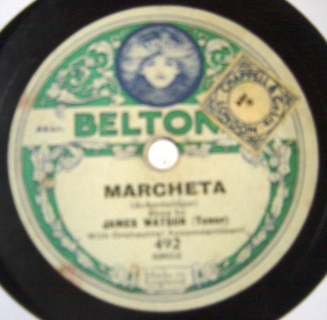 Reginald Dixon / James Watson - Marcheta - Beltona 492
