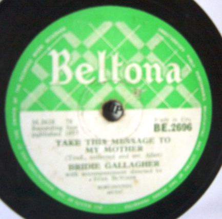 Bridie Gallagher - The Girl from Donegal - Beltona BE.2696 Irish