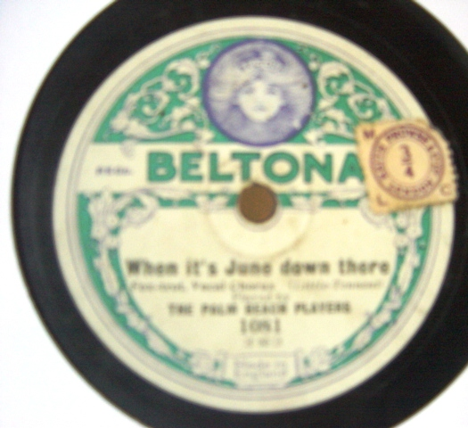 Palm Beach Players - Making Believe I'm glad - Beltona 1081