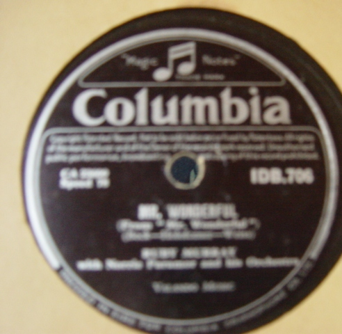 Ruby Murray - Mr. Wonderful - Columbia IDB.706 Irish
