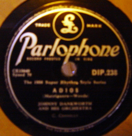 Johnny Dankworth - Blues in the Night - Parlophone DIP.238 Irish
