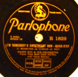 Harry Roy - Temperamental - Parlophone R.1829