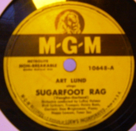 Art Lund - Sugarfoot Rag / Wilhelmina - MGM 10648 USA