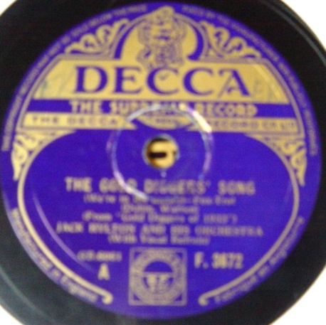 Jack Hylton - The Gold Diggers Song - Decca F.3672