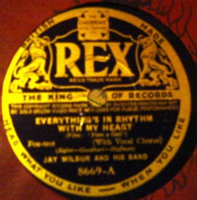 Jay Wilbur - Everything's in rhythm with my heart - Rex 8669