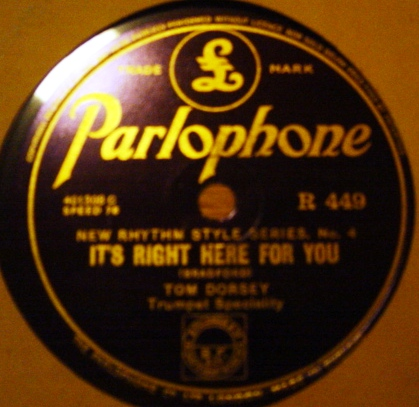 Tommy Dorsey - Beebe - Parlophone R.449 Mint-