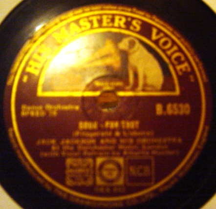 Jack Jackson - Ole Faithful / Soon - HMV B.6530