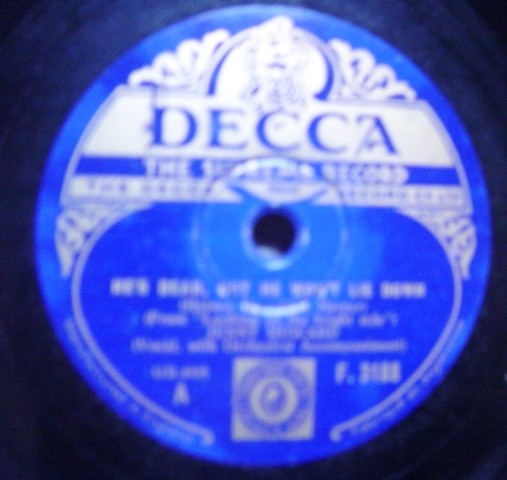 Jenny Howard - He's dead but he won't lie down - Decca F.3188