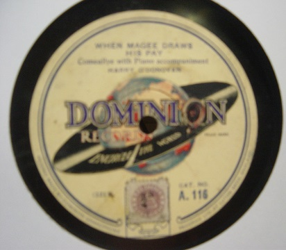 Jimmy O'Dea & Harry O'Donovan - Dominion A.116