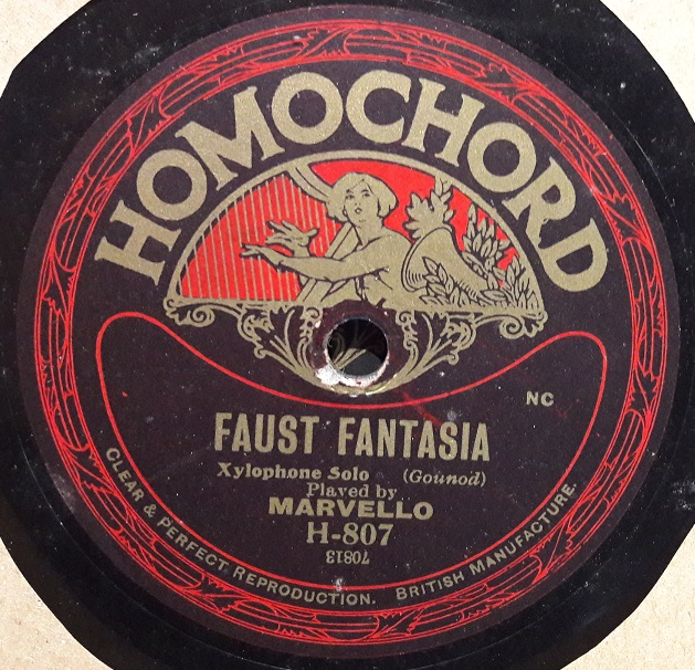 MARVELLO xylophone - FAUST CARMEN - HOMOCHORD 807