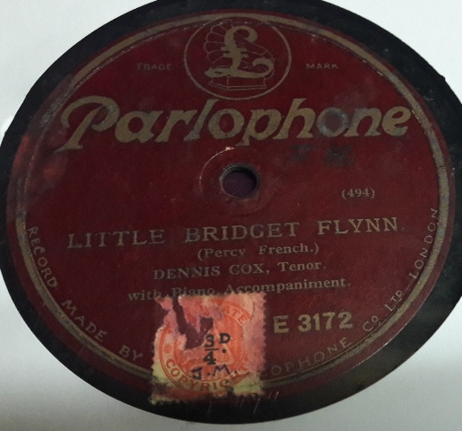Dennis Cox - Little Bridget Flynn - Parlophone E.3172 Irish