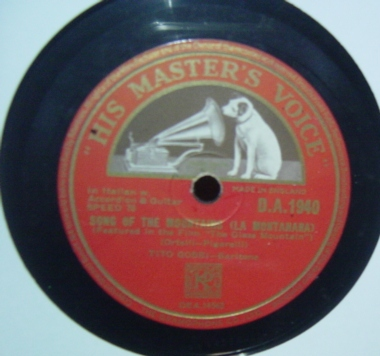 Tito Gobbi - Take the Sun - HMV D.A. 1940 UK
