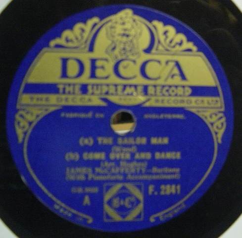 James McCafferty - The Sailor Man - Decca F.2841 N-