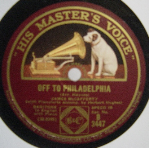James McCafferty - Off to Philadelphia - HMV B.3447 N-