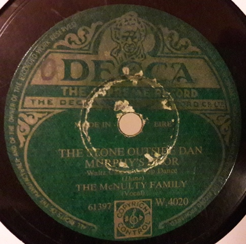 McNulty Family - The Half Door - Decca W.4020 Irish