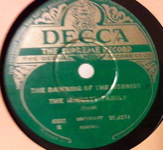 McNulty Family - Barney Brannigan - Decca W.4274 Irish