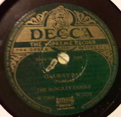 McNulty Family - Galway Bay / Eileen - Decca W.5216 Irish