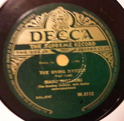 Marc Williams - The Dying Ranger - Decca W.4112 Irish Made