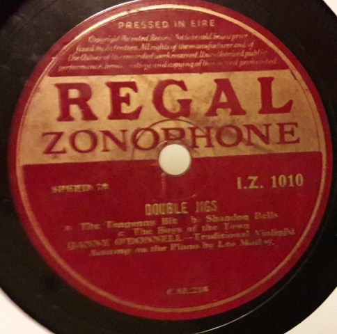 Danny O'Donnell Fiddle - Reels & Double Jigs - Regal IZ.1010