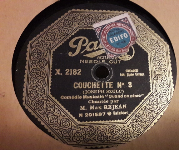 M. Max Rejean - Couchette No.3 - Pathe X.2182