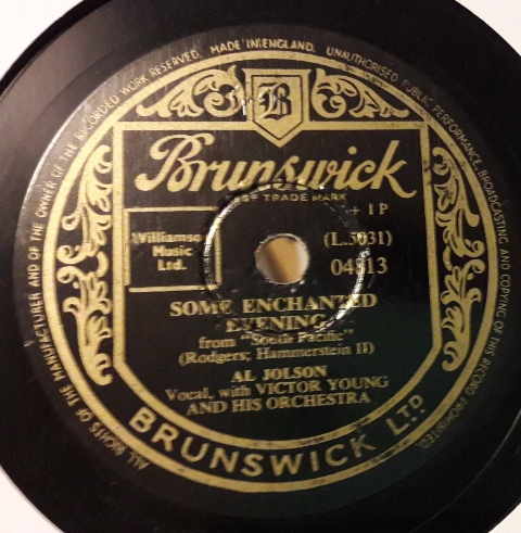 Al Jolson - Some enchanted evening - Brunswick 04813