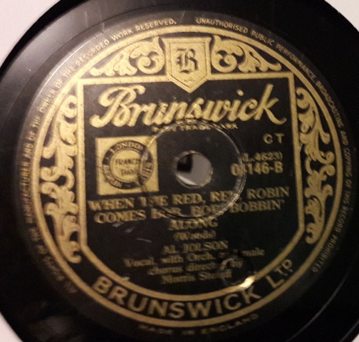 Al Jolson - When the Red Red Robbin - Brunswick 04146