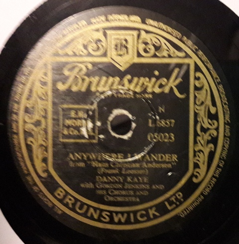 Danny Kaye - Anywhere I wander - Brunswick 05023
