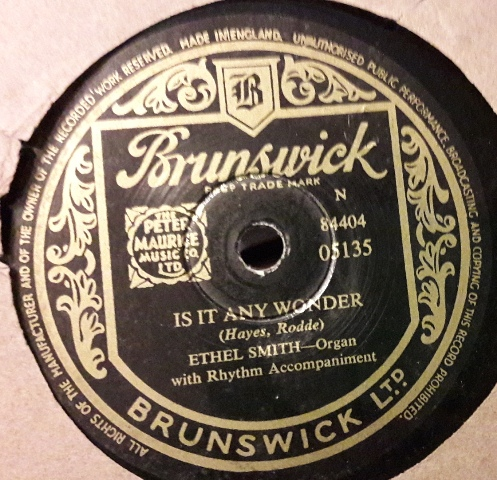 Ethel Smith - Is it any wonder - Brunswick 05135