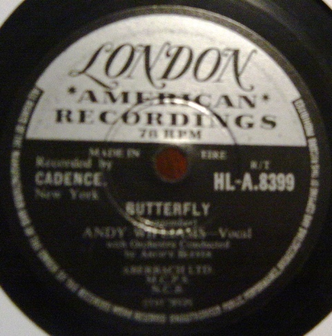 Andy Williams - Butterfly - London HLA 8399