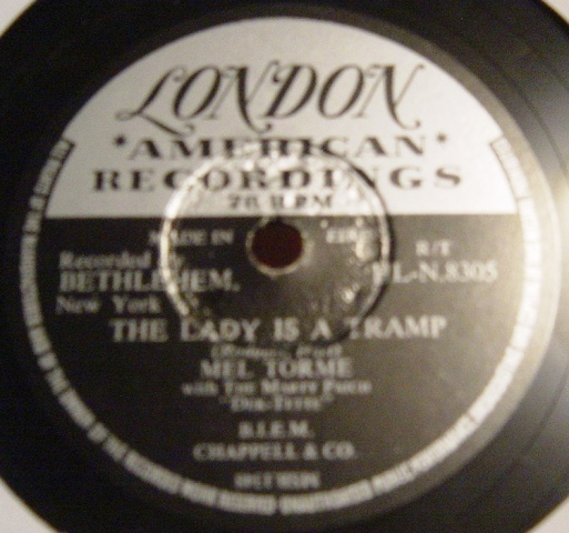 Mel Torme - The Lady is a Tramp - London HLN.8305 Irish