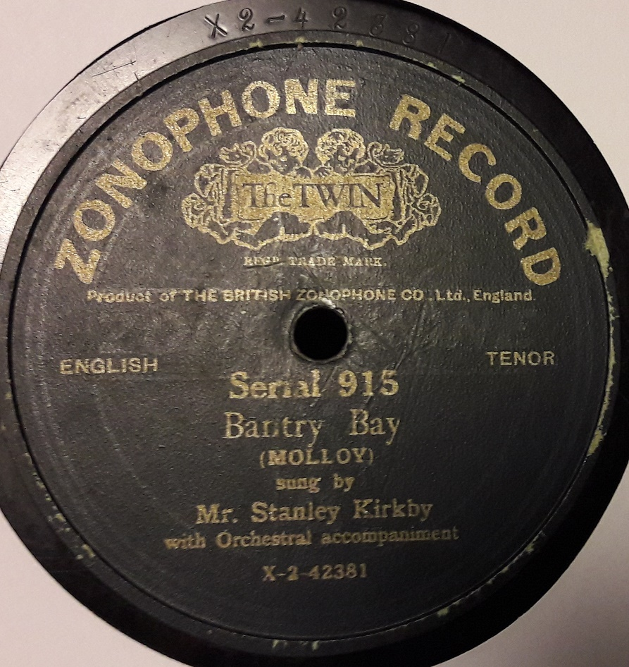 Stanley Kirkby - Bantry Bay - Zonophone 915