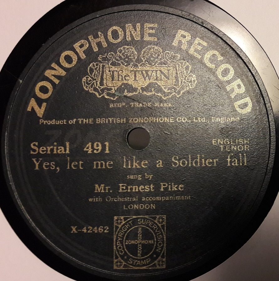 Ernest Pike - Tell me Mary how to woo thee - Zonophone 491
