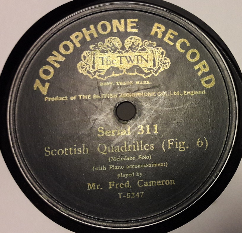 Fred Cameron - Rights of Man Hornpipe - Zonophone 311