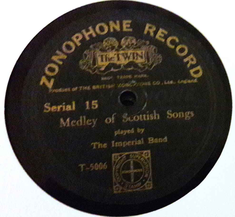 The Imperial Band - Medley of Scottish Songs - Zonophone 15