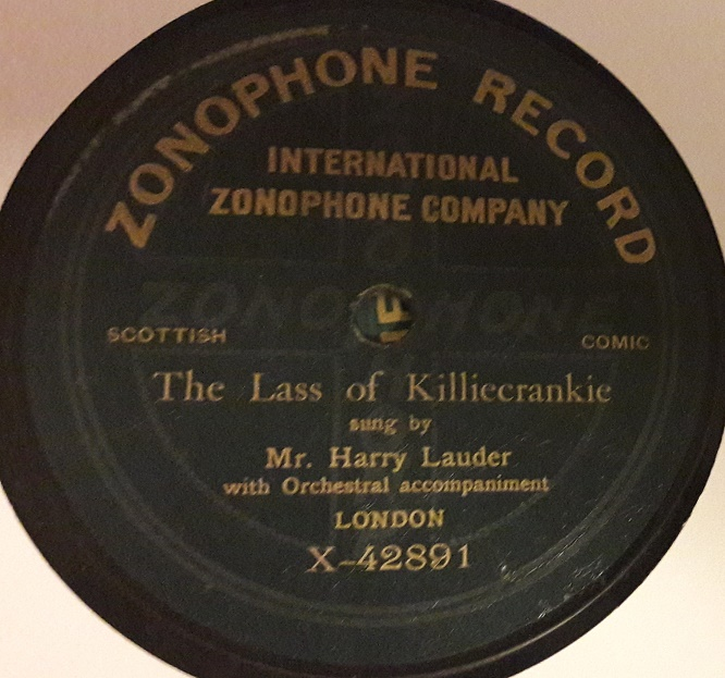 Harry Lauder - Lass of Killiecrankie - Zonophone X.42891