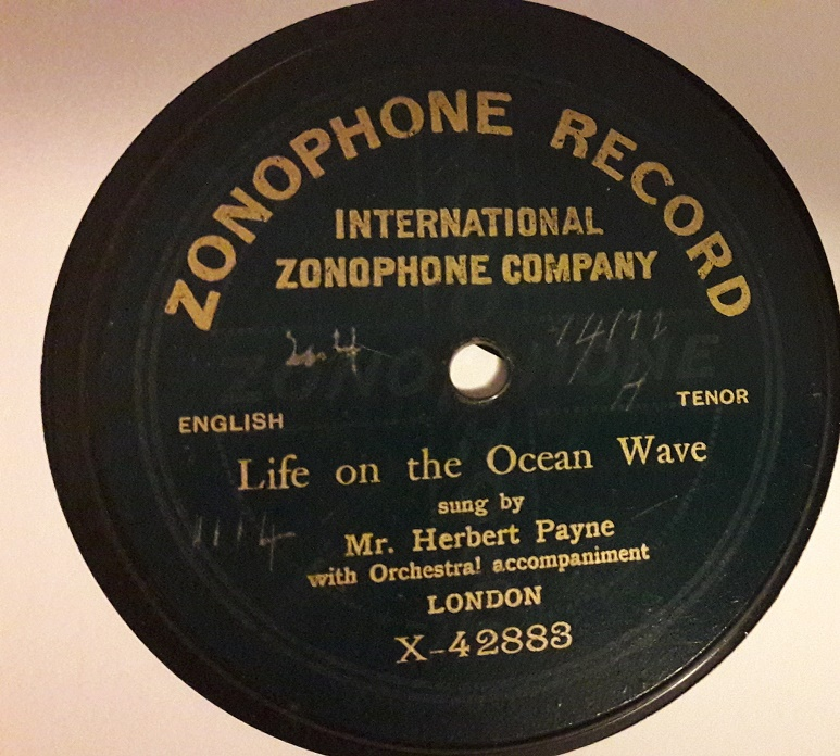 Herbert Payne - Life on the Ocean Wave - Zonophone X.42888