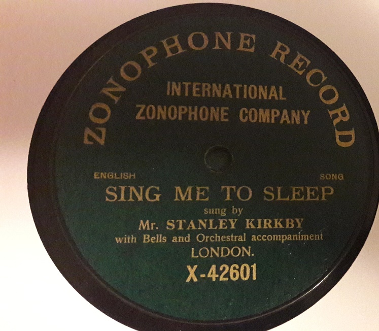 Stanley Kirkby - Sing me to Sleep - Zonophone X.42601