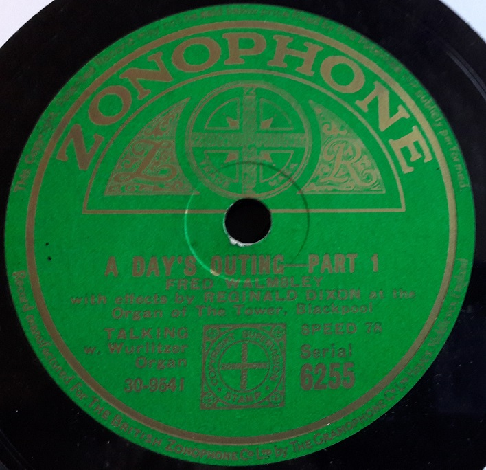 Fred Walmsley - A Day's Outing - Zonophone 6255