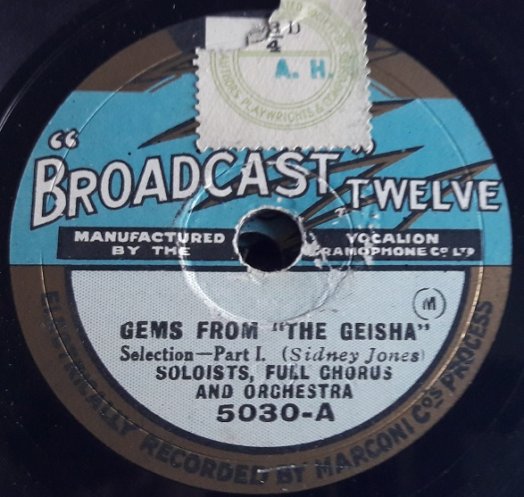 Vocal Gems - The Geisha - Broadcast 5030