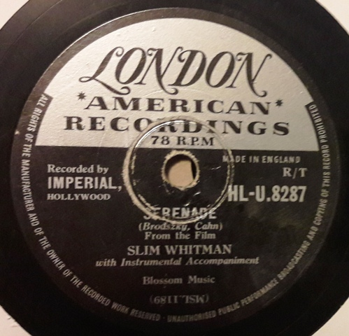 Slim Whitman - I talk to the Waves - London HLU.8287