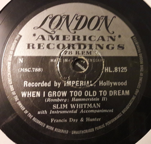 Slim Whitman - Cattle Call - London HL.8125