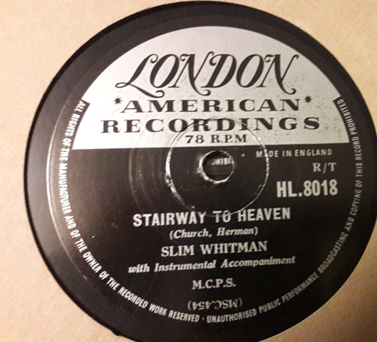 Slim Whitman - Stairway to Heaven - London HL.8018
