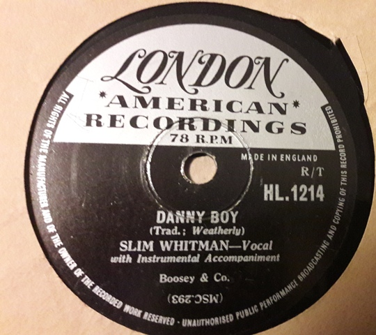 SLIM WHITMAN - DANNY BOY - LONDON 78