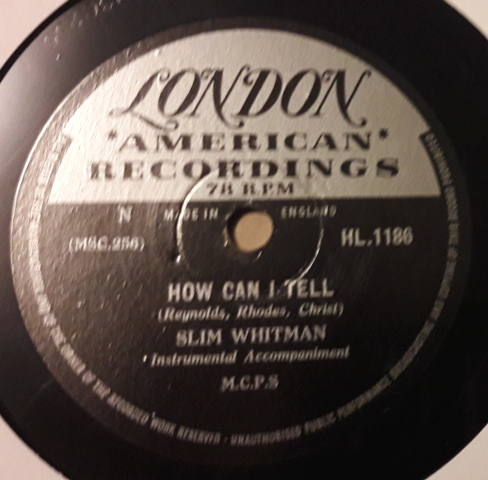 Slim Whitman - How can I tell - London HL.1186