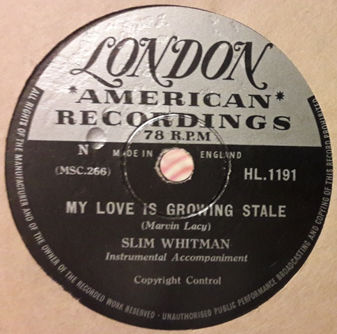 Slim Whitman - Bandera Waltz - London HL.1191