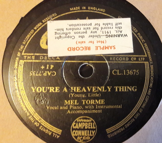 Mel Torme - You're a Heavenly thing - Capitol CL.13675