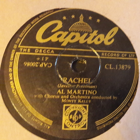 Al Martino - Rachel / One Lonely Night - Capitol CL.13879